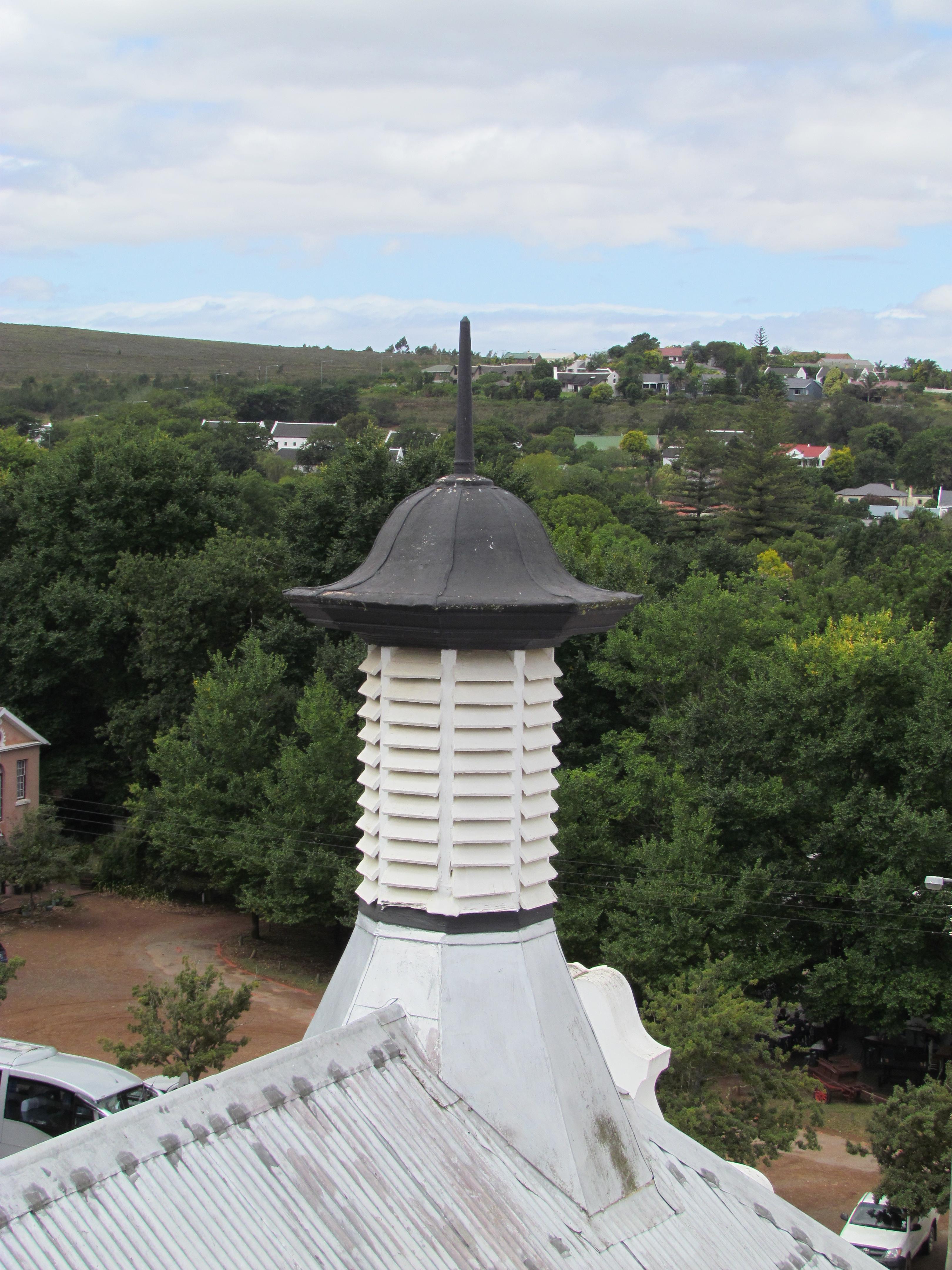 Op die kerk se dak